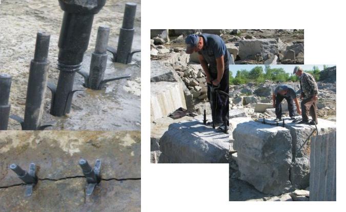 Гидроклины в процессе камнедобычи