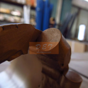 Колонковая коронка зубец