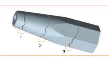 Повреждения конусной части штанг