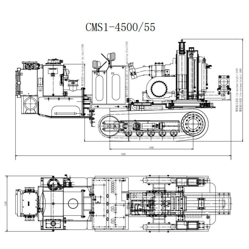 Чертеж буровой установкиCMS1-4500/55